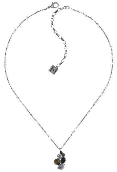 Konplott Petit Glamour Halskette Meteor in Schwarz/braun 5450543880020