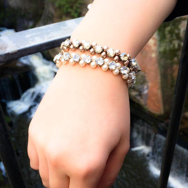 Konplott Pearl Shadow crystal Armband elastisch (M) 5450527444477