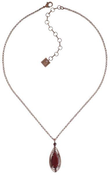 Konplott Amazonia Halskette mit Anhänger in rot, Größe S 5450543760810