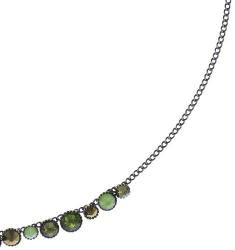 Konplott Water Cascade steinbesetzte Halskette in grün 5450543772974