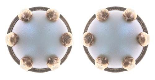 Konplott Little Frog Prince Ohrstecker klein in weiß 5450543708942