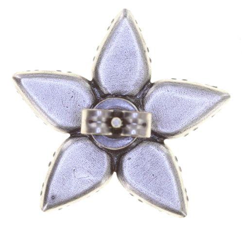 Konplott Twisted Flower Ohrstecker in braun 5450543775432