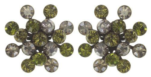 Magic Fireball Ohrstecker grün/ kristall