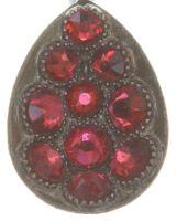 Vorschau: Konplott Tears of Joy Ohrhänger in coralline scarlet rot Größe M 5450543763620