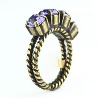 Konplott Colour Snake Ring in Tanzanite, violett 5450527640923