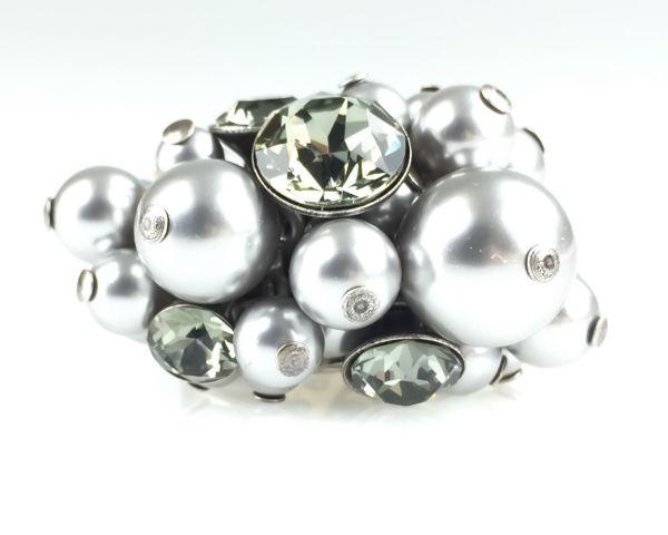 Konplott Pearl Shadow black diamond Ring 5450527480864