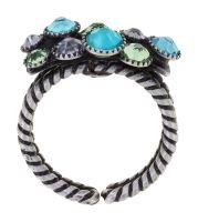 Vorschau: Konplott Water Cascade Ring in Minty Fresh blau/grün 5450543907253