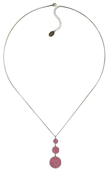 Konplott Studio 54 Halskette lang in pink Messing 5450543748771