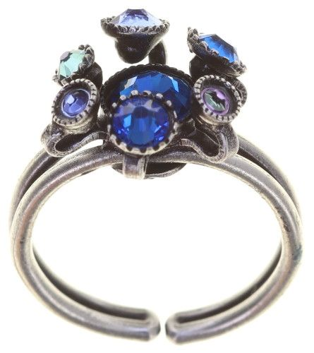 Konplott Alien Caviar Ring Blue Water in blau 5450543887869