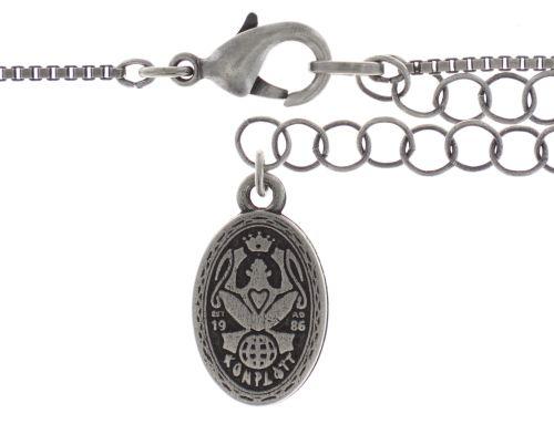 Konplott Studio 54 Halskette mit Anhänger in hellblau Silberfarben 5450543748436