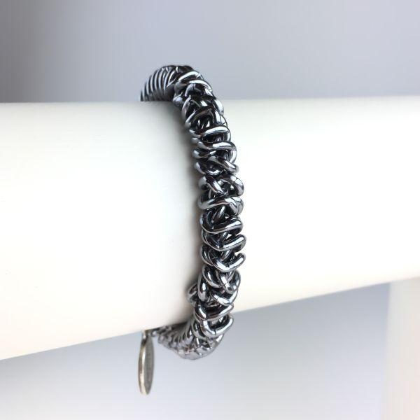 Konplott Bead Snakes elastisches Armband in Grau glänzend 5450543621777