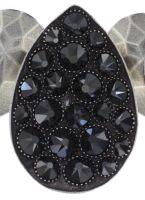 Vorschau: Konplott Tears of Joy steinbesetzte Halskette in schwarz jet hematite 5450543763125