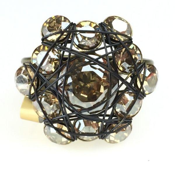 Konplott Bended Lights Ring in hellbraun/beige 5450527729772