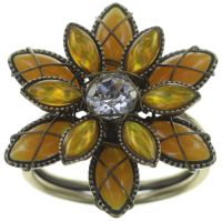 Konplott Psychodahlia Ring in gelb Messing 5450543730462