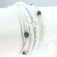 Vorschau: Konplott Petit Glamour d´ Afrique weißes Armband elastisch 5450527407304