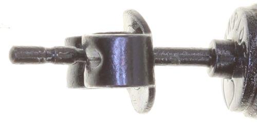 Konplott Black Jack Ohrstecker klassisch klein in schwarz jet hematite 5450543787633