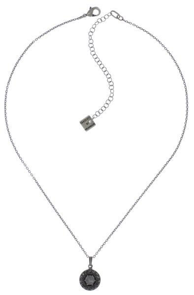 Konplott Simply Beautiful Halskette mit Anhänger in schwarz 5450543745374