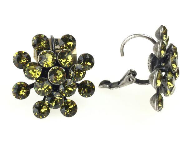 Konplott Magic Fireball Ohrhänger mit Klappverschluss in khaki 5450527640305