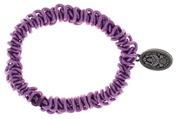 Konplott Bead Snakes elastisches Armband in Lila 5450543788012