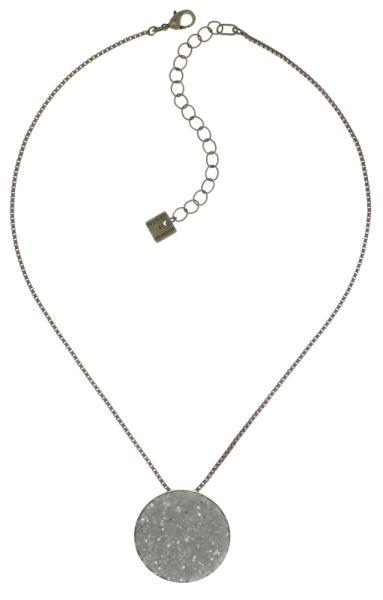 Konplott Studio 54 Halskette mit Anhänger in cremeweiß Messing 5450543748955