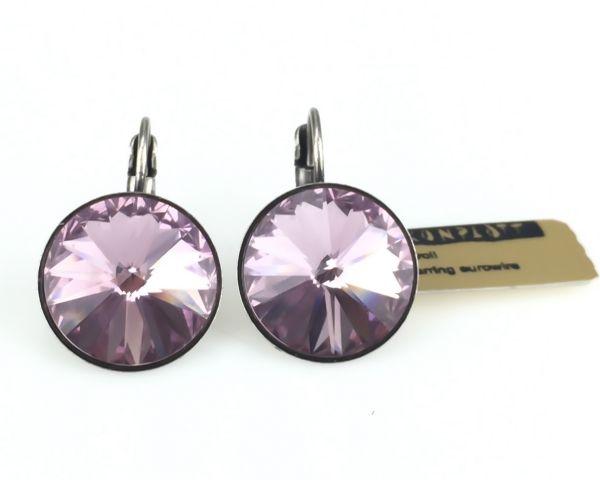 Konplott Rivoli light amethyst Ohrhänger mit Klappverschluss rosa/lila 5450527613040