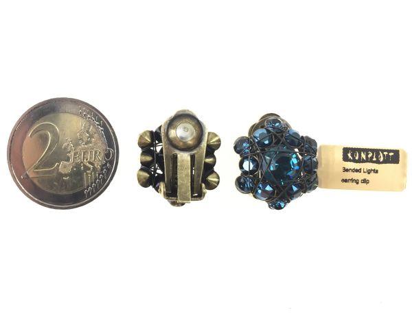 Konplott Bended Lights Ohrclip in Blau 5450527759021