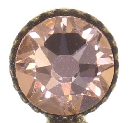 Konplott Global Glam Ohrringe hängend in apricot silber 5450543791173