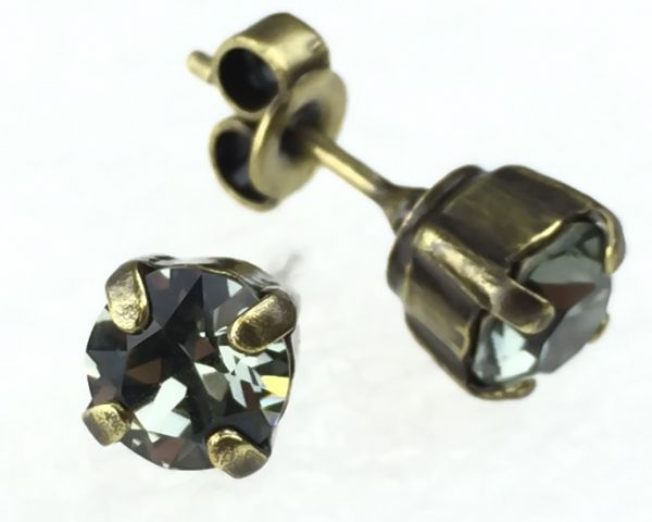 Konplott Black Jack Ohrstecker eckig in Black Diamond, kristall schwarz 5450527123877