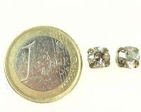 Vorschau: Konplott Black Jack Ohrstecker eckig in crystal silver shade 5450527490610