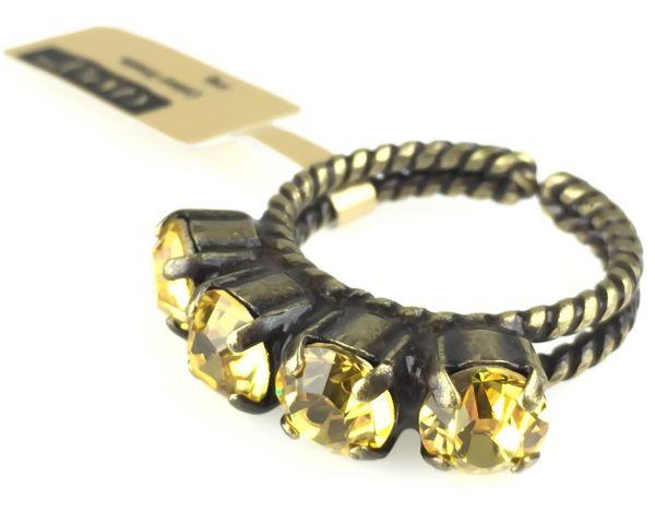 Konplott Colour Snake Ring in Light Topaz, gelb 5450527610056