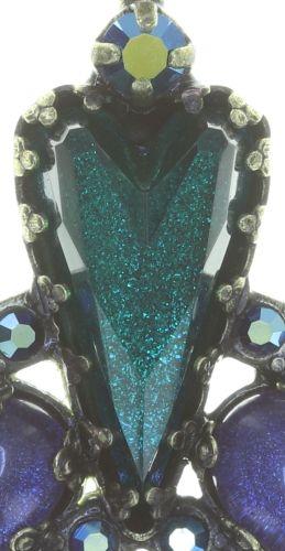Konplott Snow White Ohrstecker in blau/grün Größe S 5450543758220