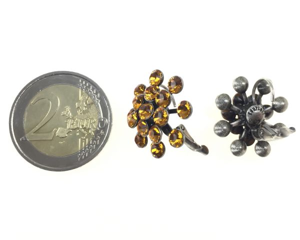 Konplott Magic Fireball Ohrhänger mit Klappverschluss in topaz, gelb/braun 5450527640541