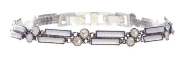 Konplott Graphic Flow Armband verschließbar in weiß antique 5450543867441