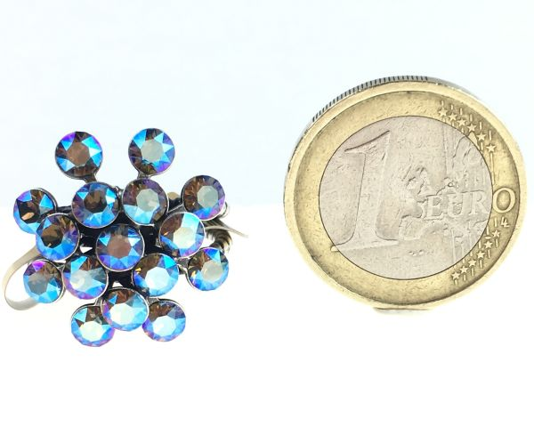 Konplott Magic Fireball grau diamond shimmer Ring 5450543631356