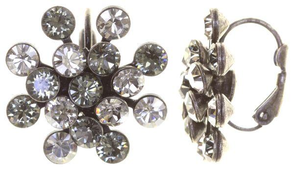 Konplott Magic Fireball Ohrhänger mit Klappverschluss in crystal satin/ crystal silver shade 5450527778350