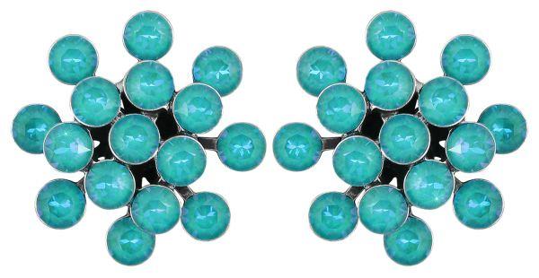 Konplott Magic Fireball Ohrstecker in water turquoise crystal laguna de lite 5450543852645