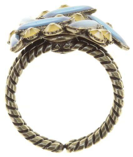Konplott Graphic Flow Ring blau/gelb antique 5450543866710