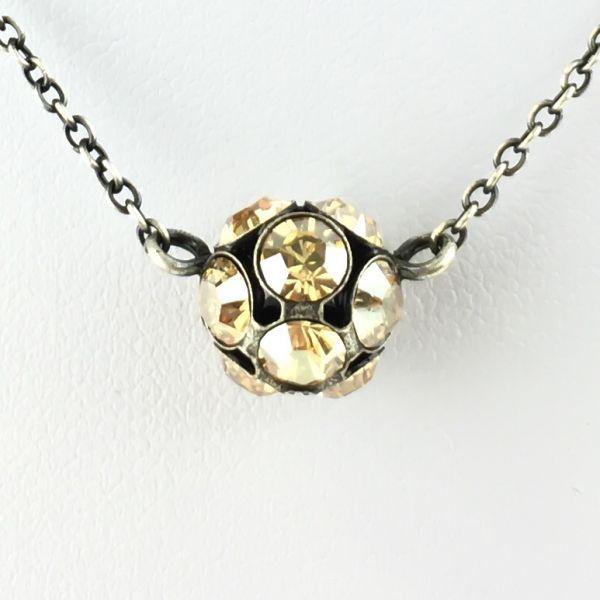 Disco Balls crystal golden shadow Halskette mit Anhänger M