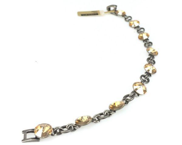 Konplott Rivoli crystal golden shadow Armband verschließbar 5450527640763