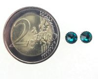 Vorschau: Konplott Black Jack Ohrstecker klassisch rund klein in blue zircon 5450527601290