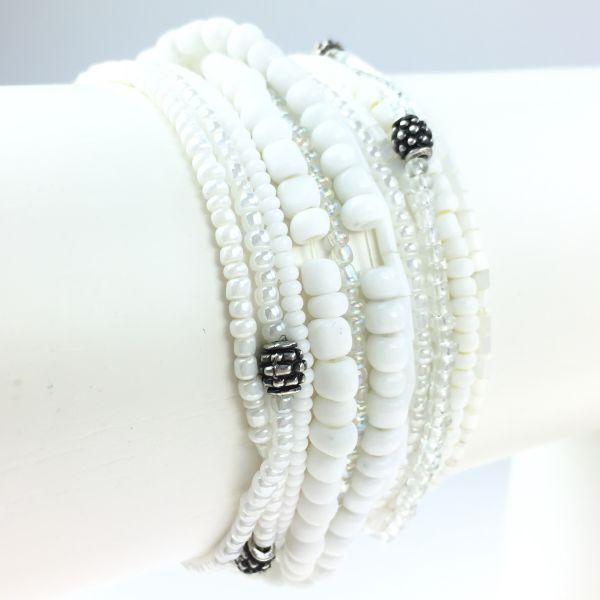 Konplott Petit Glamour d´ Afrique weißes Armband elastisch 5450527407304