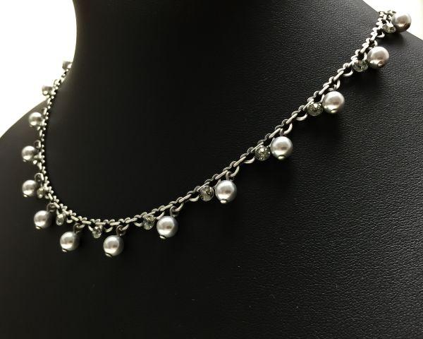 Konplott Pearl Shadow black diamond Halskette steinbesetzt 5450527480741
