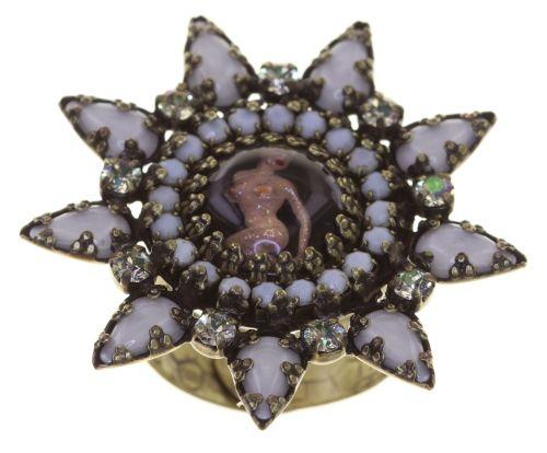 Konplott Striptease Ring in schwarz/weiß Größe M 5450543776408