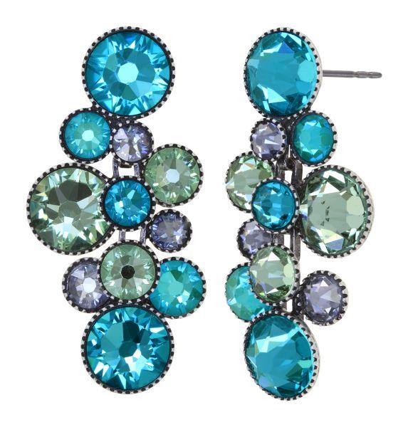 Konplott Water Cascade Ohrhänger in Minty Fresh blau/grün 5450543907239