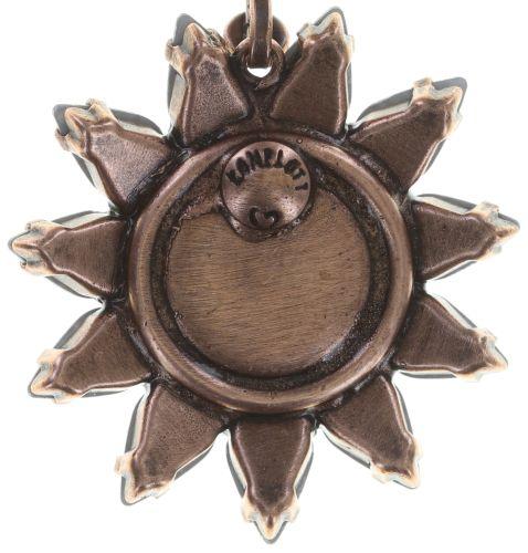 Konplott Sunflower Ohrclip hängend in weiß/pink Größe L 5450543741048