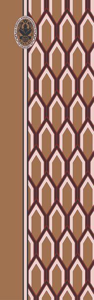 Konplott Schal Geometrisch 16 in braun 5450543807089