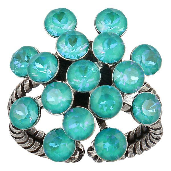 Konplott Magic Fireball Ring in water turquoise crystal laguna de lite 5450543852652