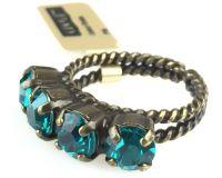 Vorschau: Konplott Colour Snake Ring in Blue Zircon, dunkeltürkis 5450527640916