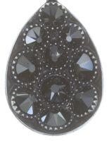 Vorschau: Konplott Tears of Joy Ohrstecker in schwarz jet hematite Größe M 5450543763224