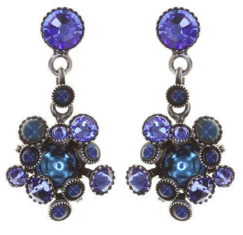 Konplott Alien Caviar Ohrring Blue Water in blau *Neu: Fassung aus Titan 5450543883557